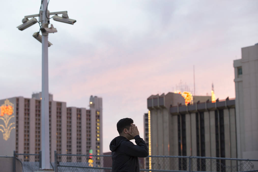 Francisco, who preferred not to use his real name, in downtown Las Vegas on Saturday, March 4, 2017. Francisco is an undocumented immigrant who came to the United States at the age of 2. (Bridget  ...