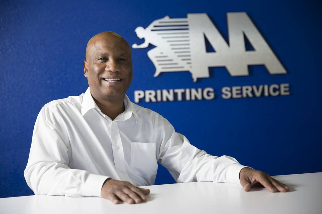 John Pinnington, owner of AA Printing, at this business on Tuesday, March 7, 2017, in Las Vegas. (Erik Verduzco/Las Vegas Review-Journal) @Erik_Verduzco