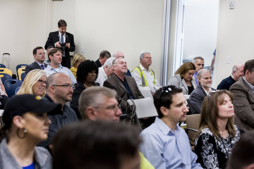 The Regional Transportation Commission of Southern Nevada and NV Energy held a workshop about electric vehicles at the RTC Training Center, Wednesday, March 8, 2017, Las Vegas.  (Elizabeth Brumley ...