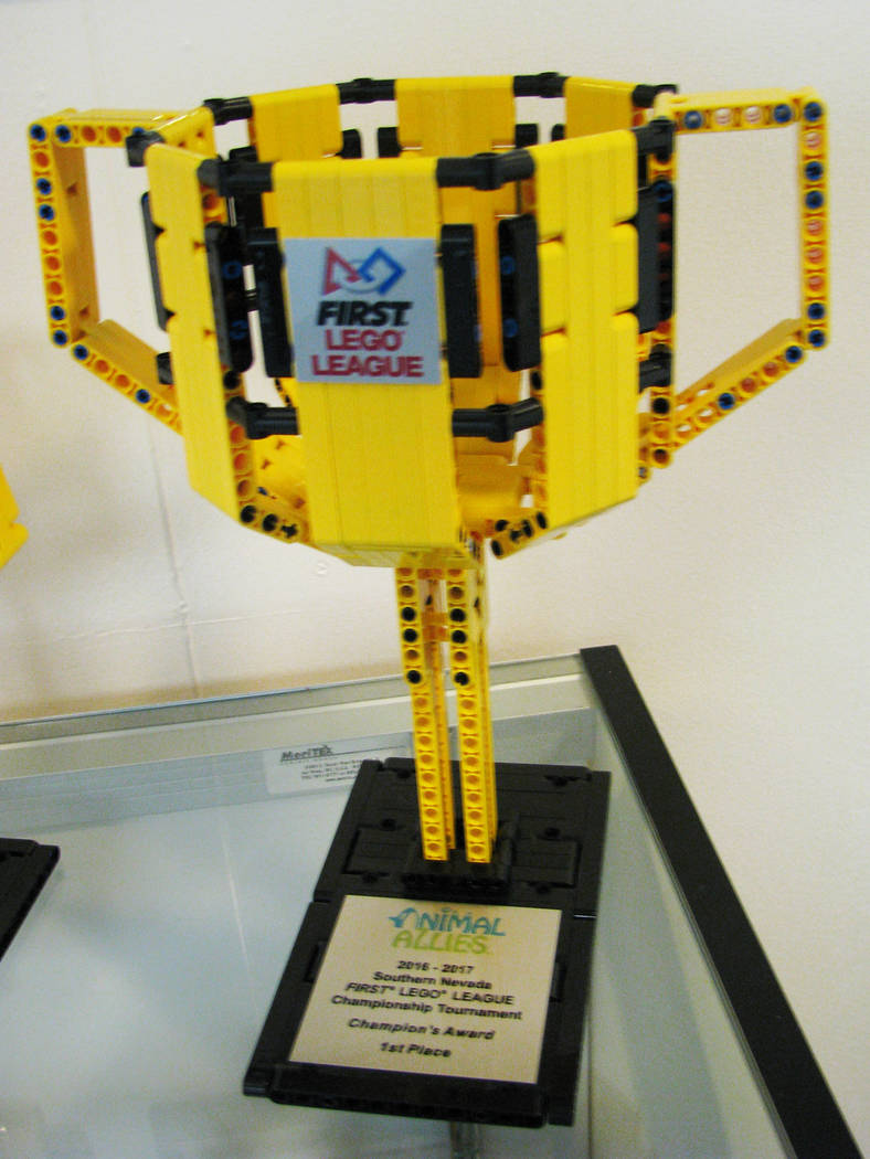 The latest award the Lego Leaders team won is on display in the front office of Jo Mackey Academy of Leadership and Global Communication through Technology 2726 Englestad Street, North Las Vegas.  ...
