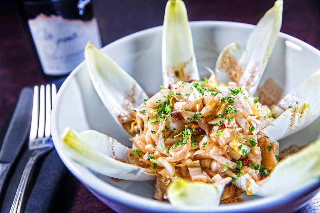 The L' Endive salad at Ohlala French Bistro on Wednesday, March 15, 2017, in Las Vegas. (Benjamin Hager/Las Vegas Review-Journal) @benjaminhphoto