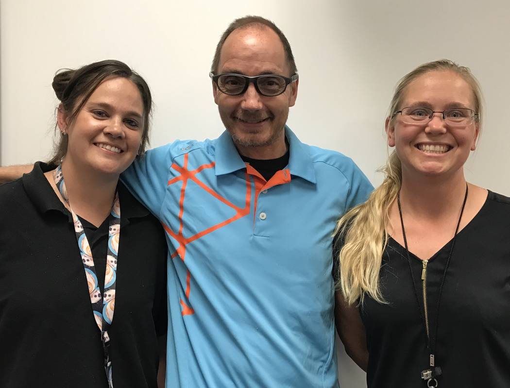 Fifth grade teachers  (from left to right) Debby Korder, Casey Korder and Samantha Sweeney are advisors for student-run businesses at Claude & Stella Parson Elementary School. /Courtesy art