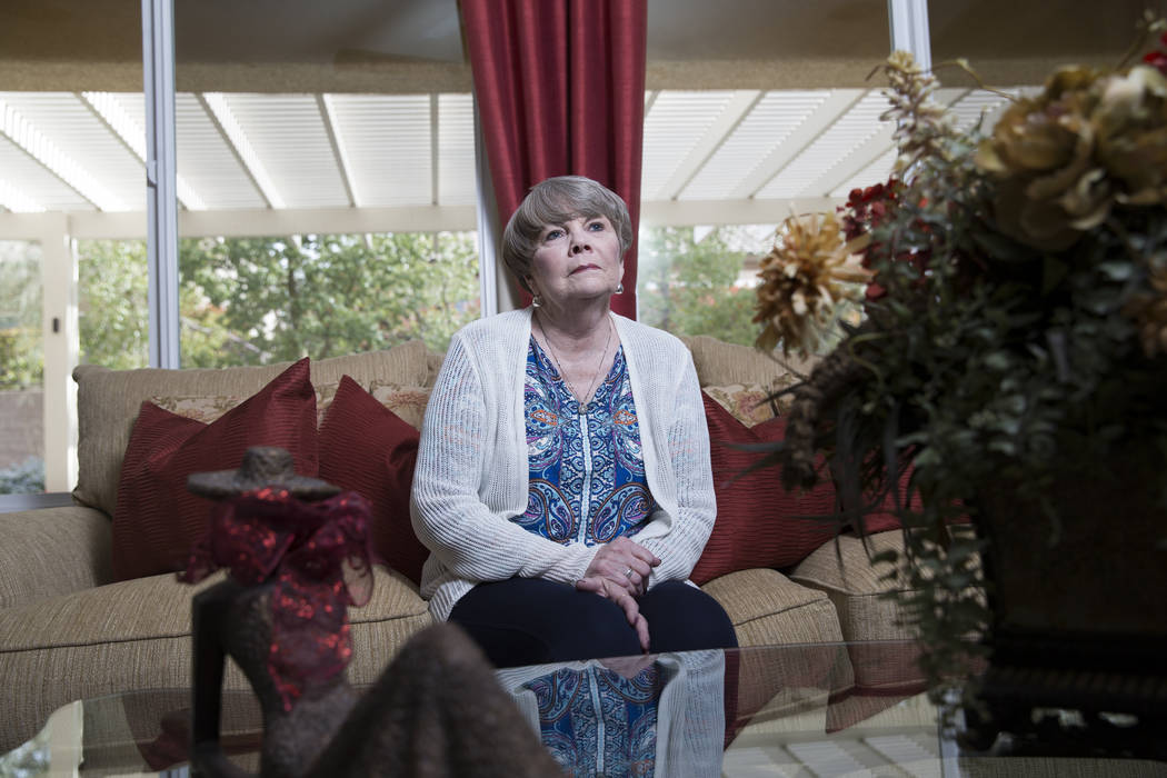 Myeloma patient Claudia Brown at her Henderson home on Friday, March 10, 2017. Brown was diagnosed nine years ago. (Erik Verduzco/Las Vegas Review-Journal) @Erik_Verduzco