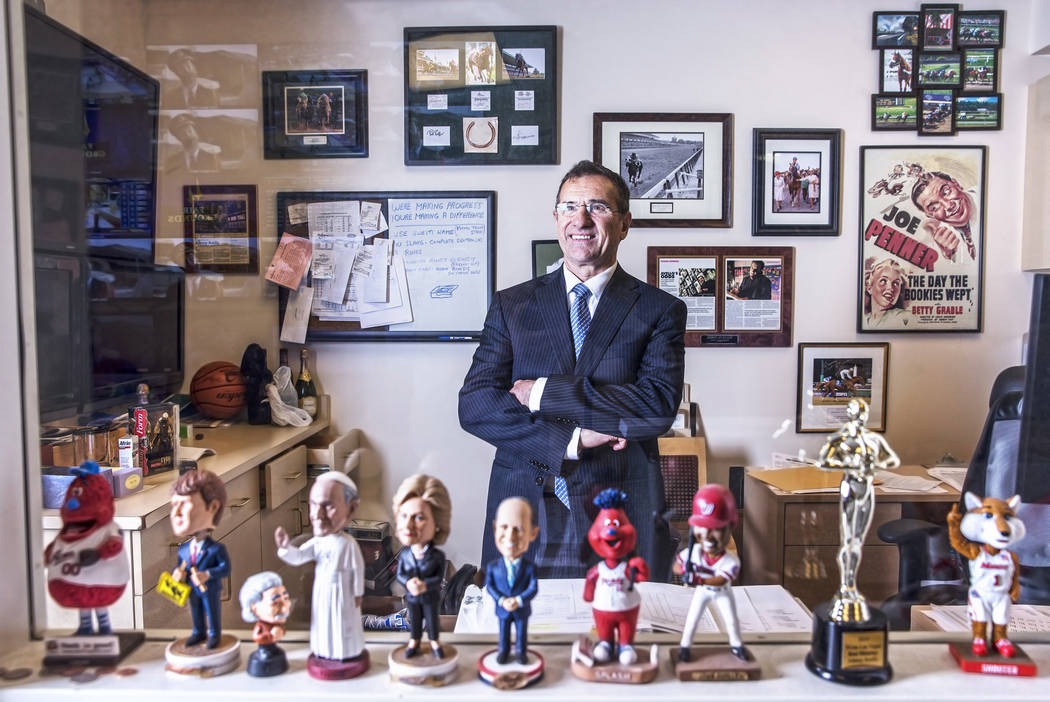 Wynn Las Vegas Sports Director John Avello on Thursday, March 16, 2017, at Wynn Las Vegas, in Las Vegas. (Benjamin Hager/Las Vegas Review-Journal) @benjaminhphoto
