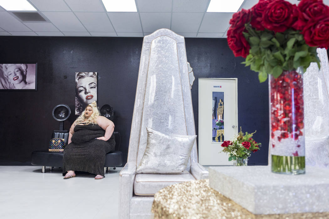 Owner of Babydoll Beauty Couture Jamie Lopez in her new salon catering to plus-sized women located on North Decatur Blvd. and West Lake Mead Blvd., Las Vegas, Wednesday, March 15, 2017. (Elizabeth ...