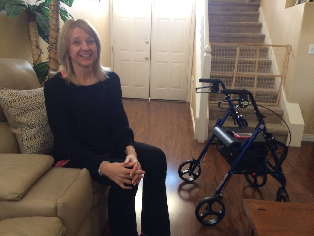 Milena Kaplan of northwest Las Vegas talks Feb. 22 about learning she had multiple sclerosis and how it's affected her ability to work out. The Cleveland Clinic Lou Ruvo Center for Brain Health  ...