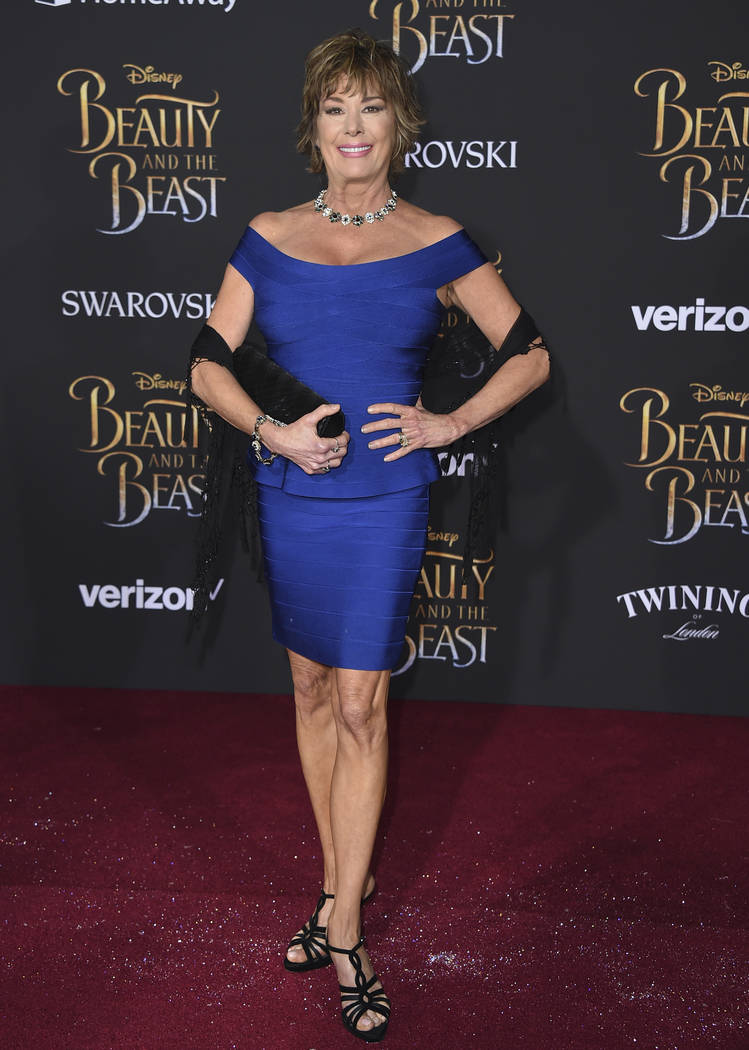 """Paige O'Hara arrives at the world premiere of """"Beauty and the Beast"""" at the El Capitan Theatre on Thursday, March 2, 2017, in Los Angeles. (Photo by Jordan Strauss/Invision/AP)"""