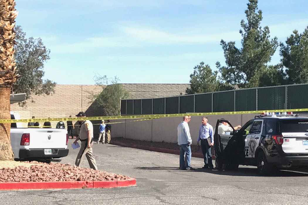 Police are investigating after the discovery of a teenage girl's burned body on Saturday, March 11. (Rio Lacanlale/ Las Vegas Review-Journal) @riolacanlale