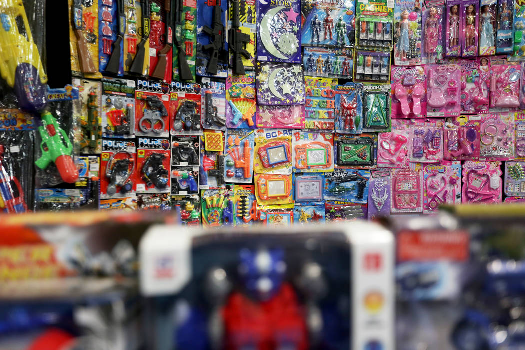 Toys for sale at the ASD trade show on Sunday, March 19, 2017, at the Las Vegas Convention Center in Las Vegas. (Rachel Aston/Las Vegas Review-Journal) @rookie__rae