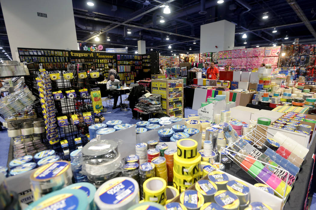 Items for sale at the ASD trade show on Sunday, March 19, 2017, at the Las Vegas Convention Center in Las Vegas. (Rachel Aston/Las Vegas Review-Journal) @rookie__rae