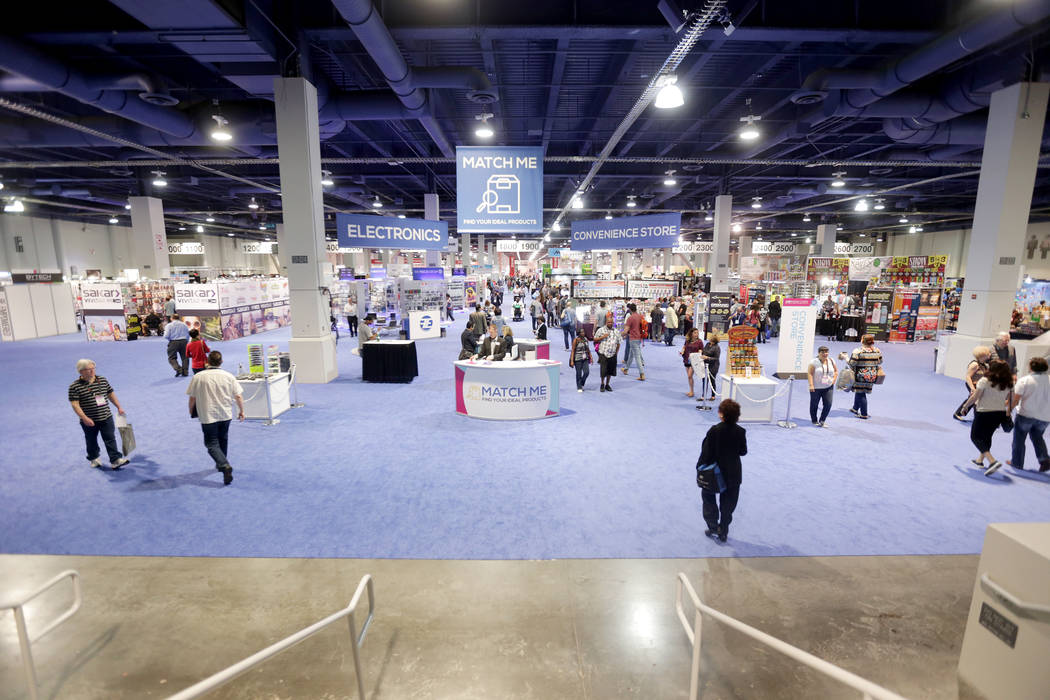 The bottom floor of the ASD trade show on Sunday, March 19, 2017, at the Las Vegas Convention Center in Las Vegas. (Rachel Aston/Las Vegas Review-Journal) @rookie__rae