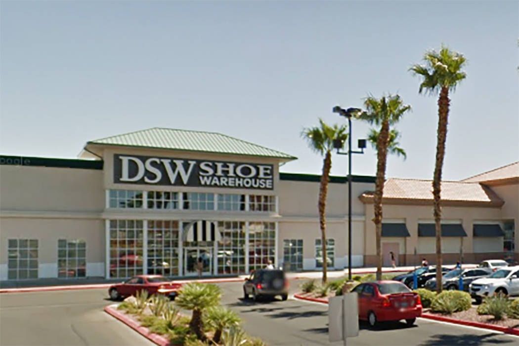 DSW Designer Shoe Warehouse in the Best in the West Shopping Center on Rainbow in Las Vegas. (Google Street View)