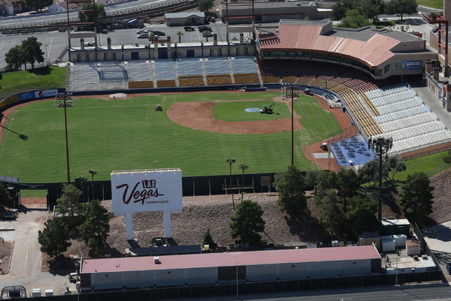 Cashman Field in Las Vegas is seen on Monday, Sept. 26, 2016. Brett Le Blanc/Las Vegas Review-Journal Follow @bleblancphoto