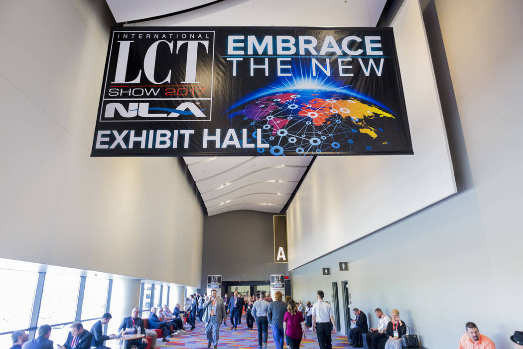People enter the International LCT Show at the International LCT Show at The Venetian and the Palazzo in Las Vegas, Tuesday, March 14, 2017. (Elizabeth Brumley/Las Vegas Review-Journal) @EliPagePhoto