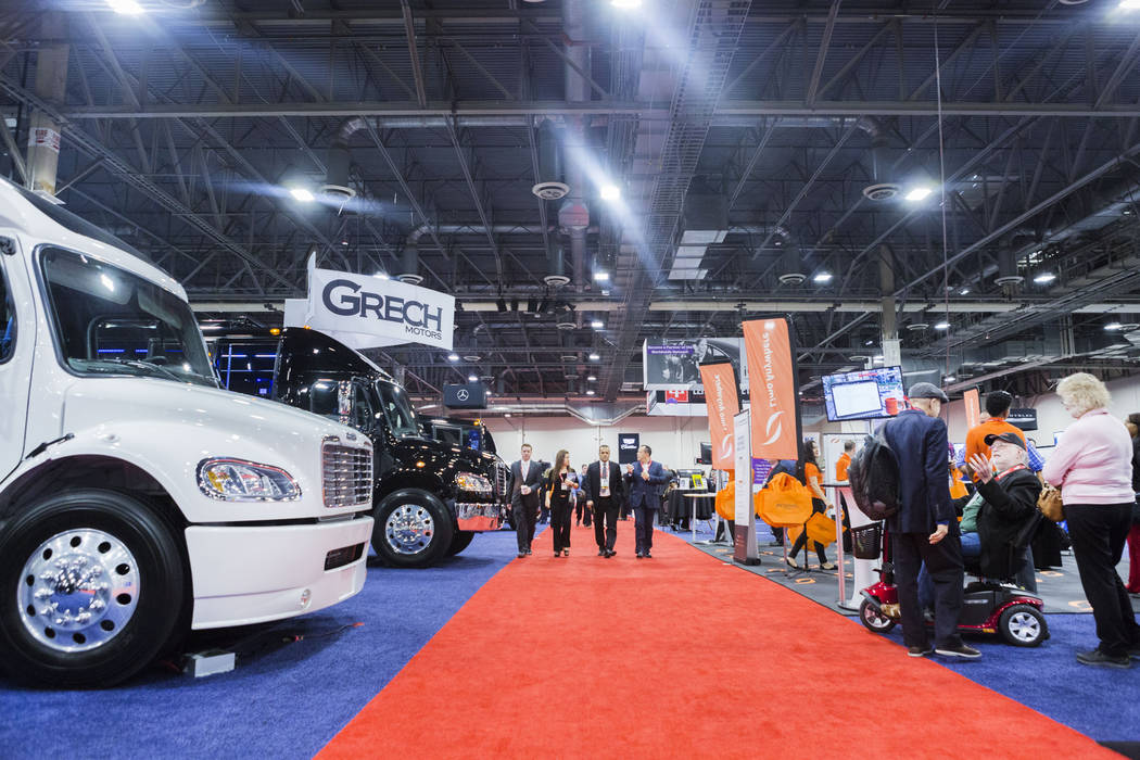 Luxury transportation vehicles are displayed at the International LCT Show at The Venetian and the Palazzo in Las Vegas, Tuesday, March 14, 2017. (Elizabeth Brumley/Las Vegas Review-Journal) @EliP ...