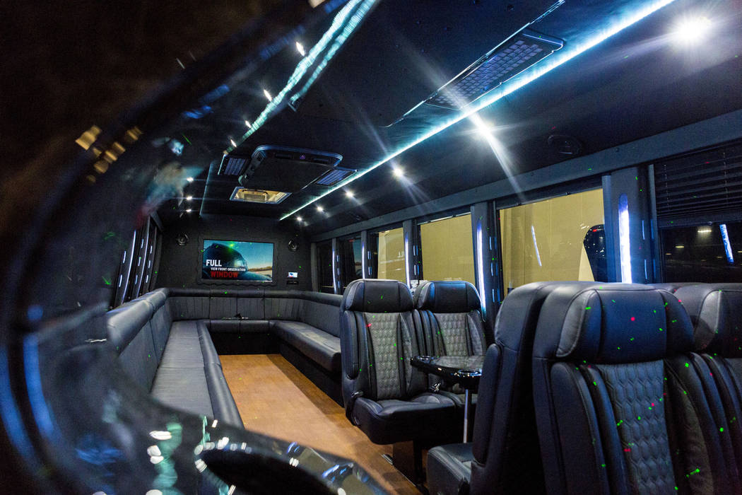 A luxery bus is on display at the International LCT Show at The Venetian and the Palazzo in Las Vegas, Tuesday, March 14, 2017. (Elizabeth Brumley/Las Vegas Review-Journal) @EliPagePhoto