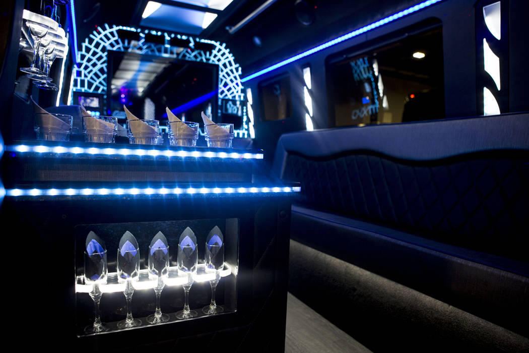 Inside of a luxury bus which is displayed at the International LCT Show at The Venetian and the Palazzo in Las Vegas, Tuesday, March 14, 2017. (Elizabeth Brumley/Las Vegas Review-Journal) @EliPage ...