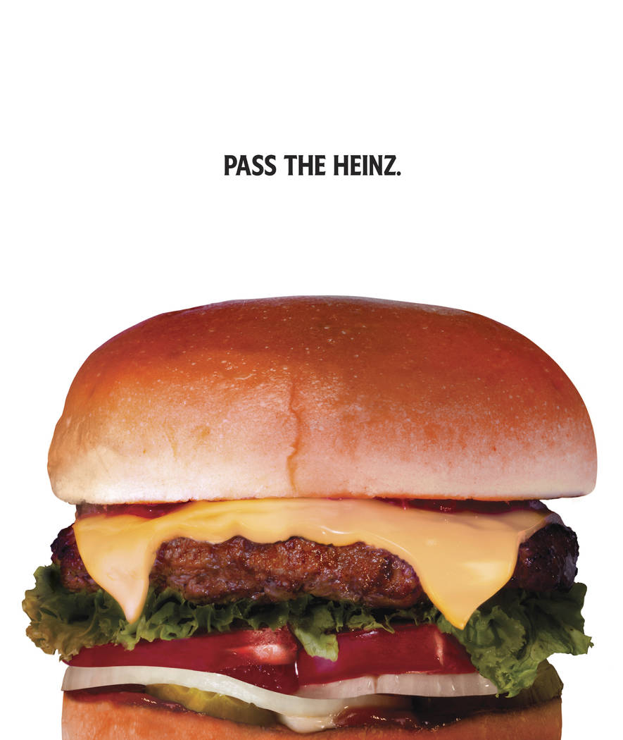 "This photo provided by Heinz shows a Heinz ketchup ad inspired by the TV show ""Mad Men."" The idea of the campaign, which shows foods like French fries and hamburgers up close wit ..."