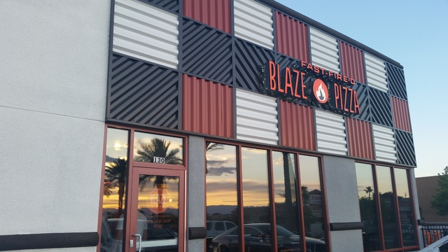 Blaze Pizza's first Nevada location is shown at 10520 S. Eastern Ave. in Henderson. A North Las Vegas location is planned to open soon at 6211 N. Decatur Blvd. (Lisa Valentine/View) (Click for mor ...