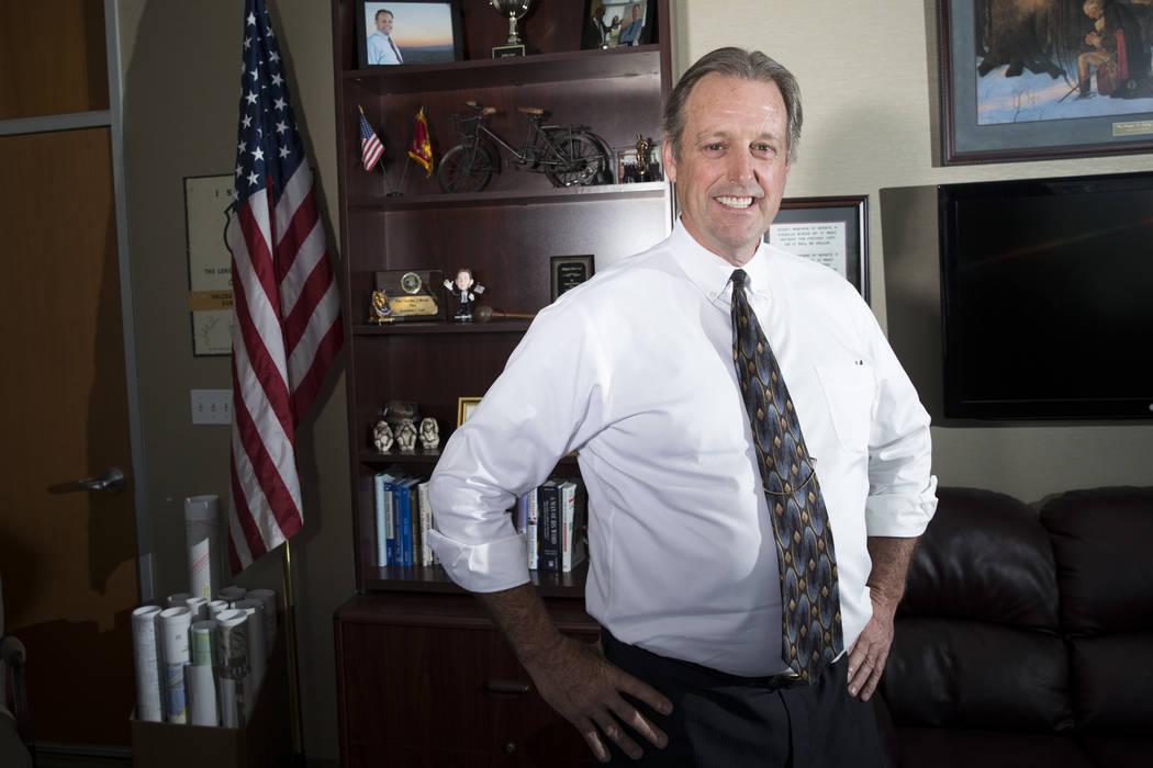Mayor John Lee at his North Las Vegas City Hall office on Thursday, March 16, 2017, in North Las Vegas. (Erik Verduzco/Las Vegas Review-Journal) @Erik_Verduzco