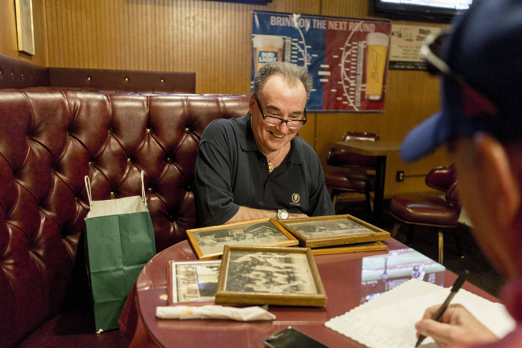Rich Lupcho, graveyard Tap House Tavern bartender, former teammate of Pistol Pete Maravich at LSU, tells stories of days on the team, at the tavern located at 5589 West Charleston Blvd. in Las Veg ...