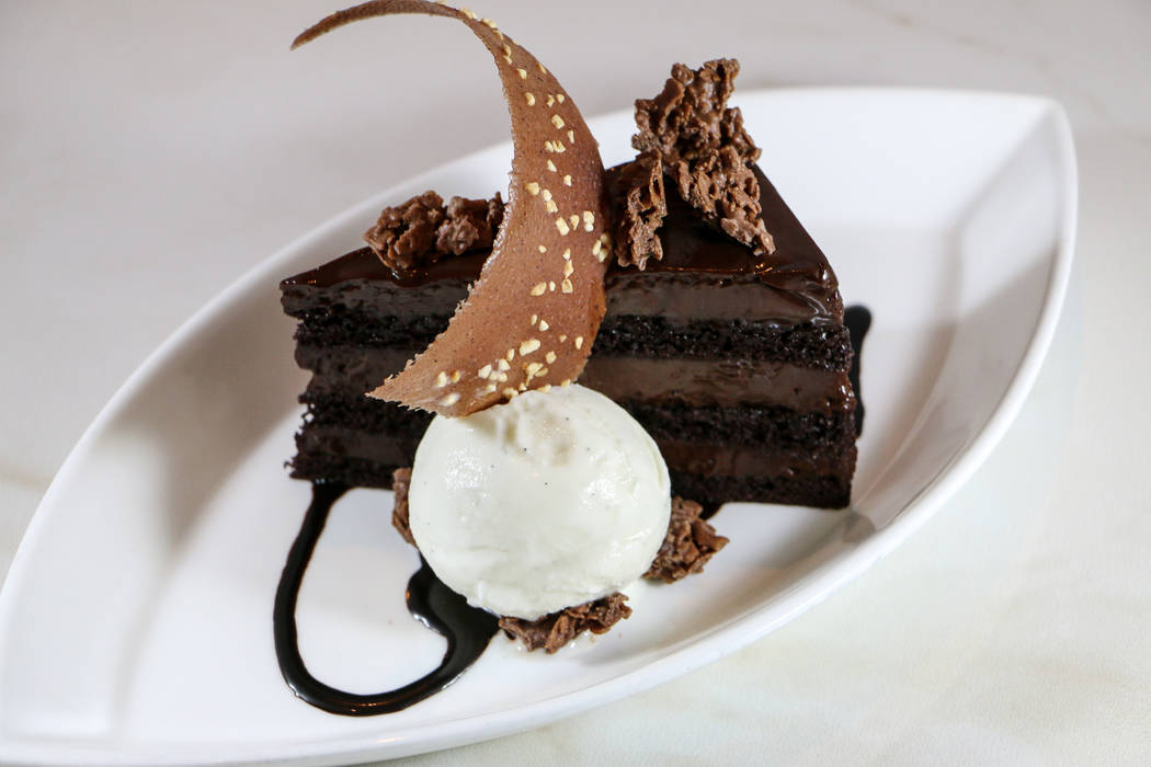 Chocolate layer cake from The Barrymore (Courtesy)