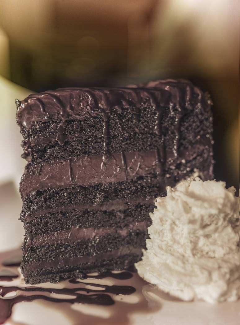Mile High Dutch Chocolate Layer Cake (courtesy Cafe Americano)
