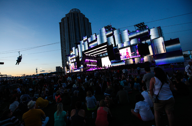 Empire of the Sun performs at the main stage during the Rock in Rio USA music festival in Las Vegas on Saturday, May 16, 2015. (Chase Stevens/Las Vegas Review-Journal) Follow Chase Stevens on Twit ...