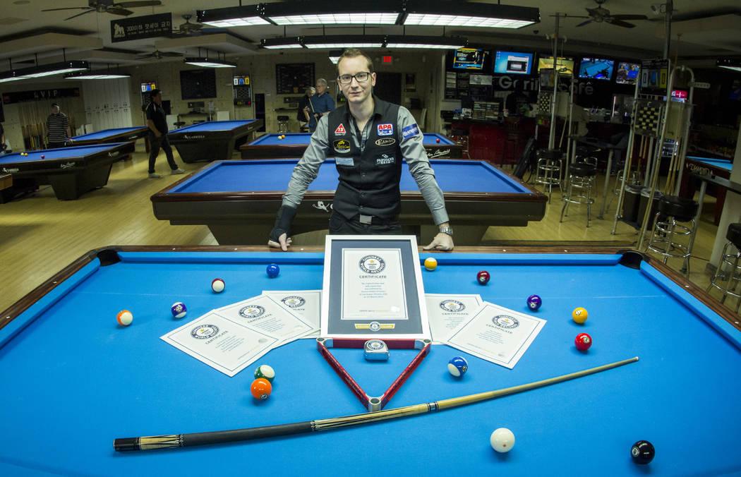 Red Carpet Report Trickshot Pool Player Florian Kohler Breaks Six - Guinness pool table