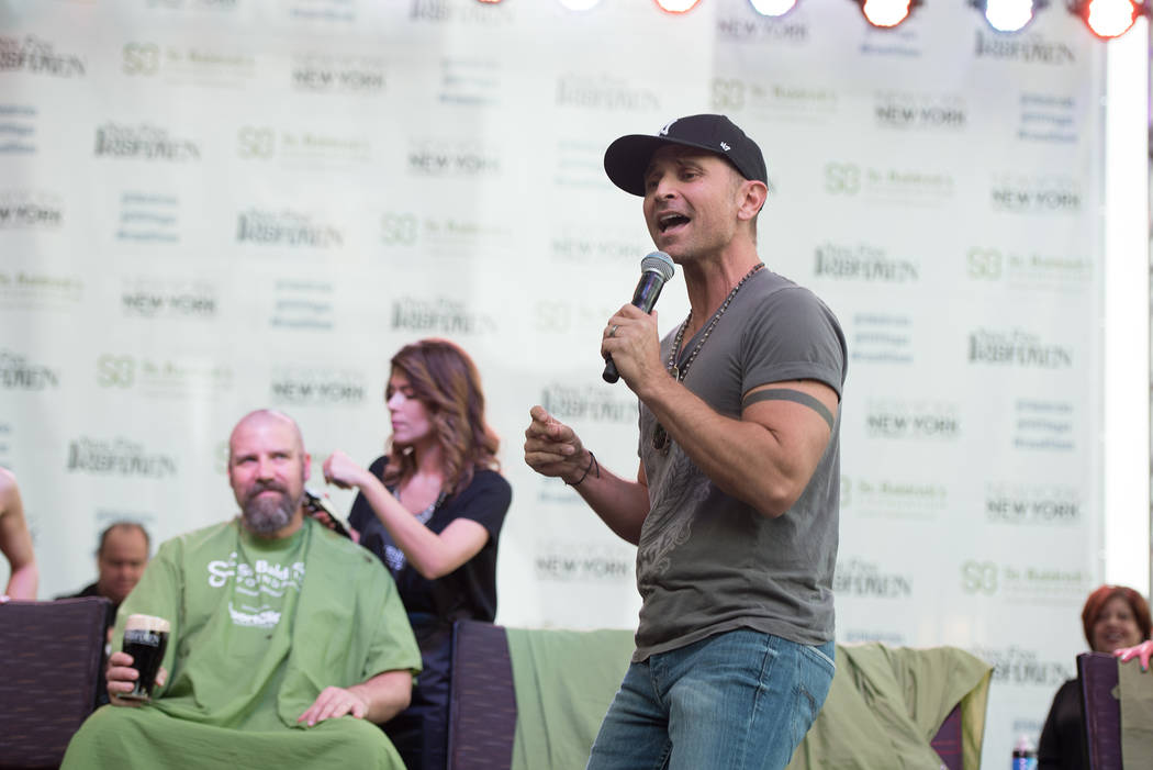 MC Travis Cloer performs during St. Baldrick's Day at New York-New York on Saturday, March 11, 2017, in Las Vegas. (Courtesy)
