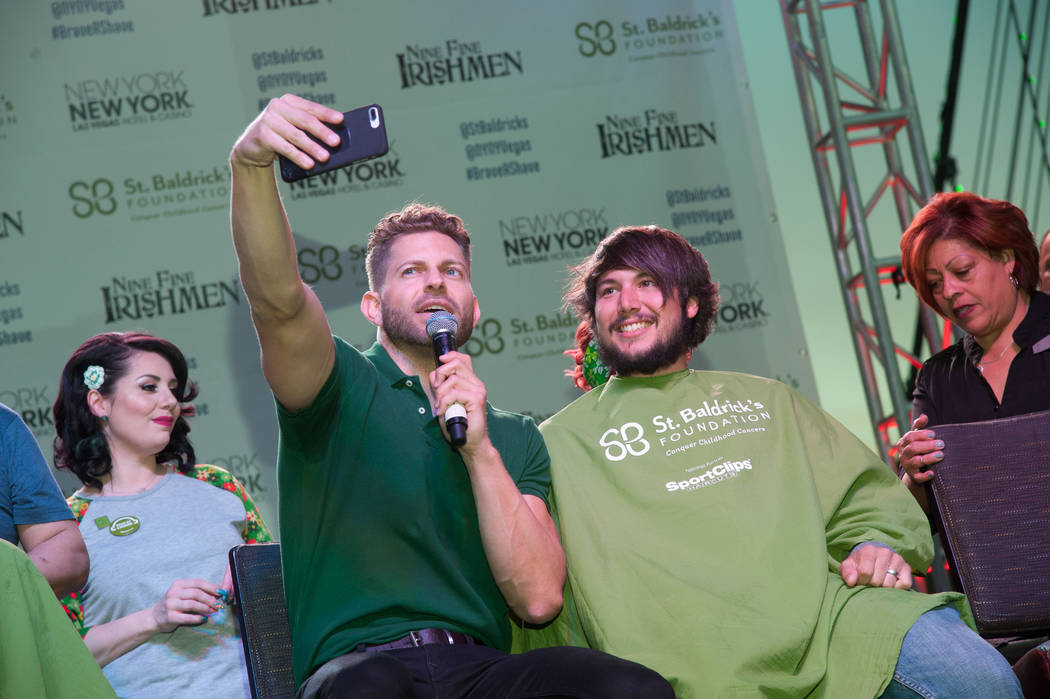 Jaymes Vaughn takes part in St. Baldrick's Day at New York-New York on Saturday, March 11, 2017, in Las Vegas. (Courtesy)