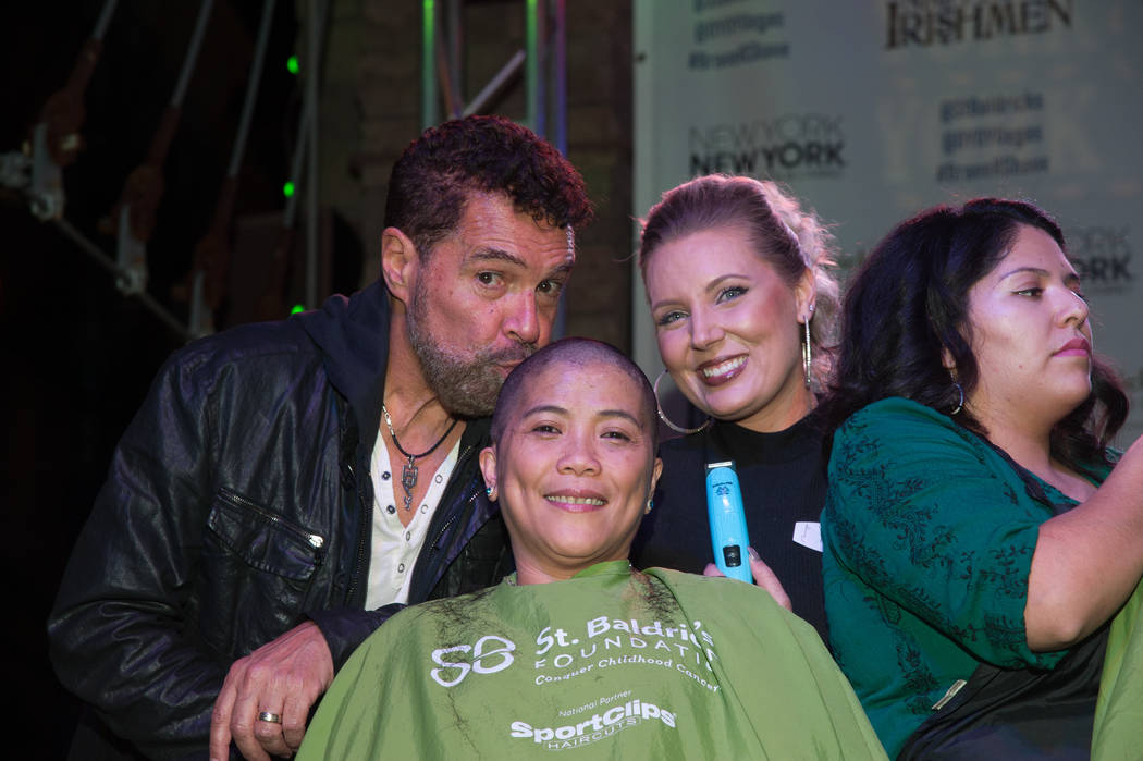 Clint Holmes takes part in St. Baldrick's Day at New York-New York on Saturday, March 11, 2017, in Las Vegas. (Courtesy)