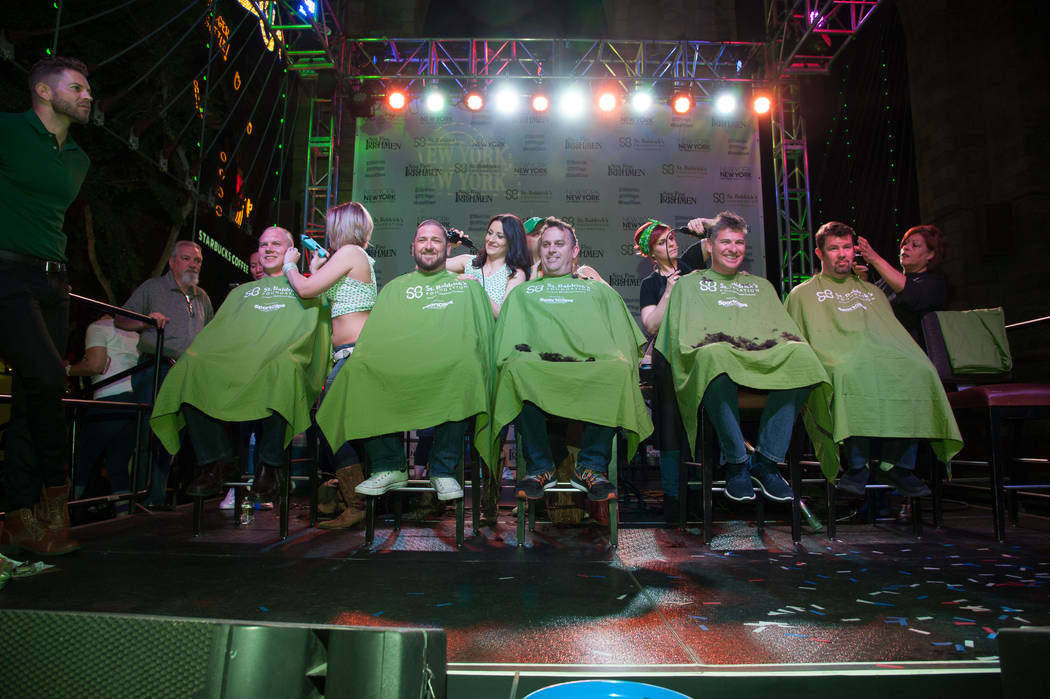St. Baldrick's Day at New York-New York on Saturday, March 11, 2017, in Las Vegas. (Courtesy)