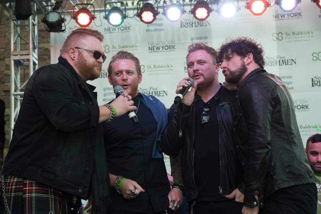 Harrah headliners Tenors of Rock perform during St. Baldrick's Day at New York-New York on Saturday, March 11, 2017, in Las Vegas. (Courtesy)