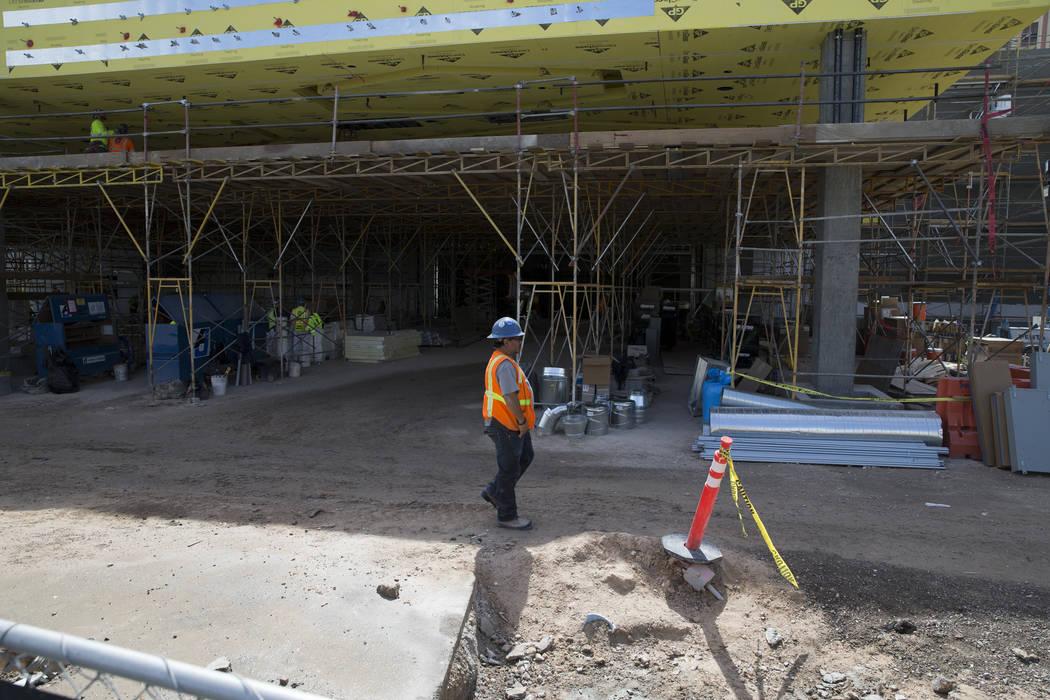 The construction site of a new building at Palace Station hotel-casino on Wednesday, March 15, 2017, in Las Vegas. (Erik Verduzco/Las Vegas Review-Journal) @Erik_Verduzco