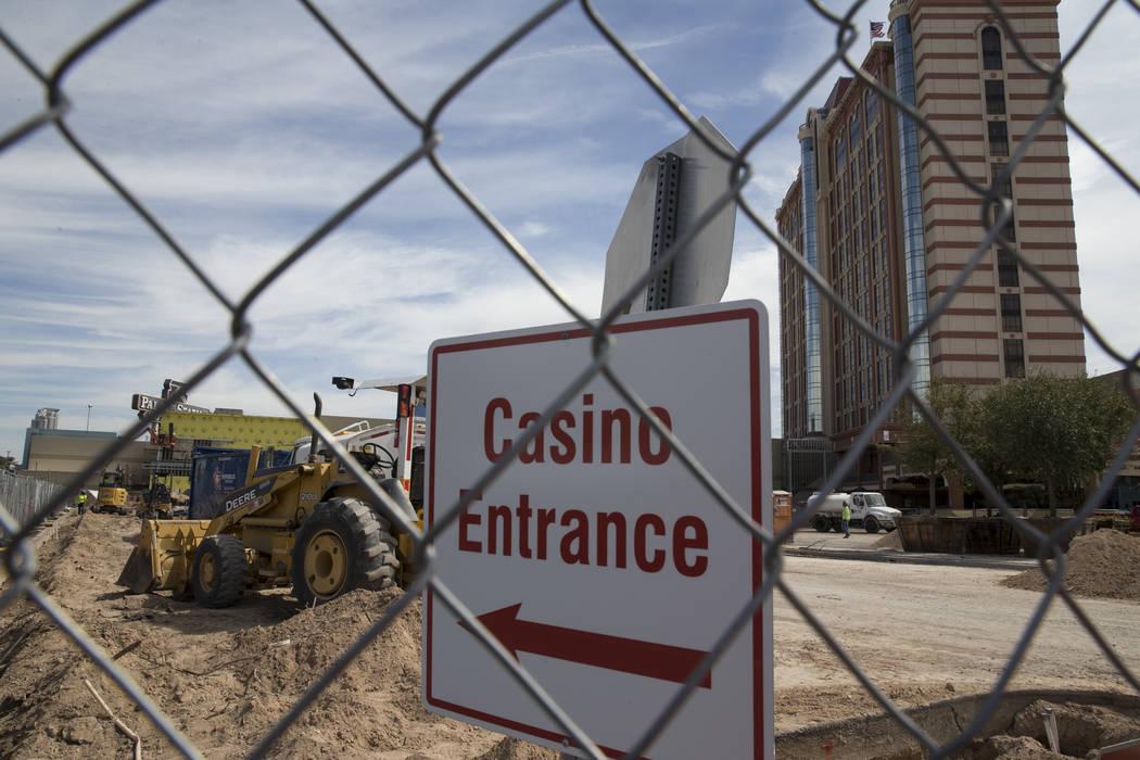 A construction site outside of Palace Station hotel-casino on Wednesday, March 15, 2017, in Las Vegas. (Erik Verduzco/Las Vegas Review-Journal) @Erik_Verduzco