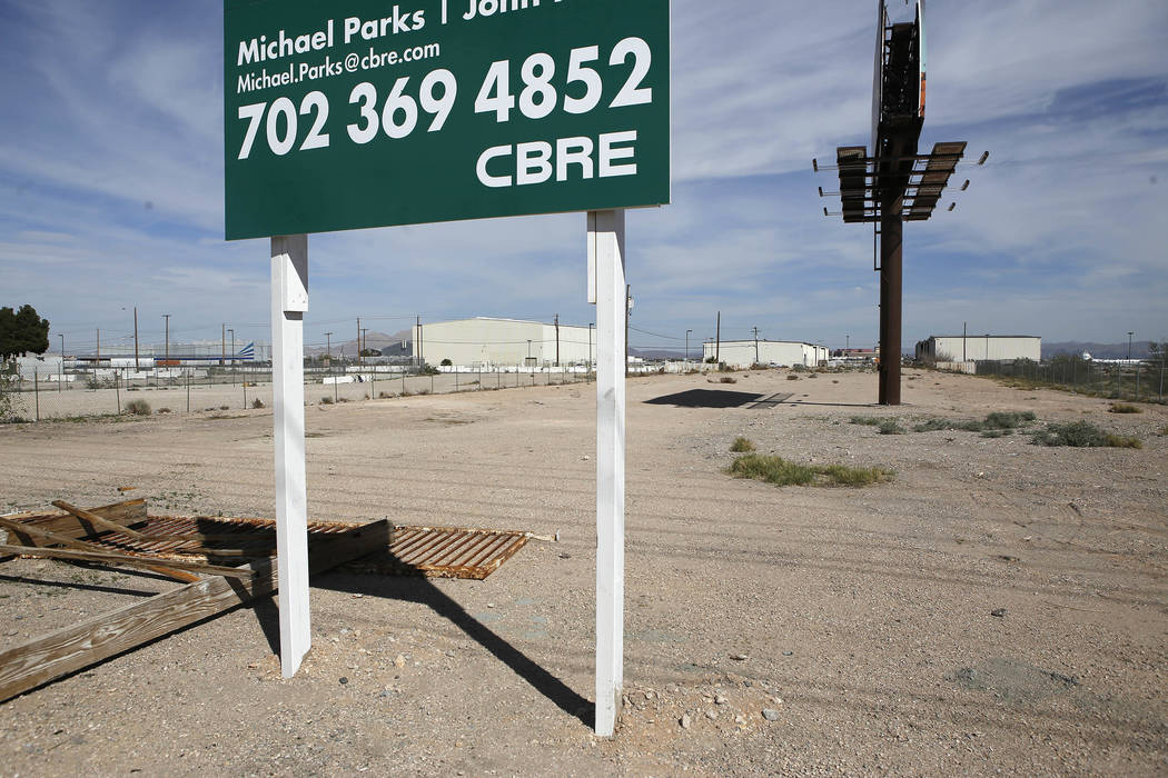 A 1.76-acre parcel of land on the south Strip on Wednesday, March 15, 2017, in Las Vegas. The land is currently for sale. (Christian K. Lee/Las Vegas Review-Journal) @chrisklee_jpeg