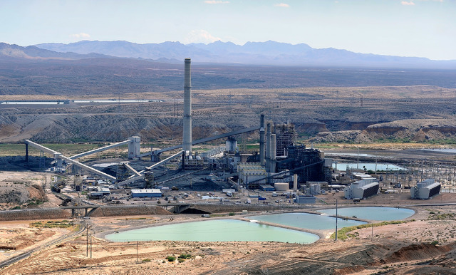 An aerial view of the Reid Gardner Generating Station, a 557 megawatt coal fired plant, in Moapa is seen, Tuesday, Sept. 9, 2014. (David Becker/Las Vegas Review-Journal)