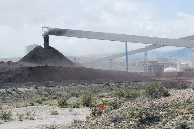 Ash blows from the coal waste pile of the NV Energy Reid Gardner power station, Jan. 5, 2010. Residents of the Moapa River Indian Reservation blame waste from the plant as the cause of health prob ...