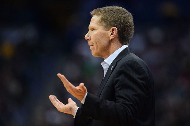 Gonzaga Bulldogs head coach Mark Few in first half action of Utah vs Gonzaga during the second round of the 2016 NCAA Tournament at Pepsi Center in Denver. (Ron Chenoy/USA Today Sports)