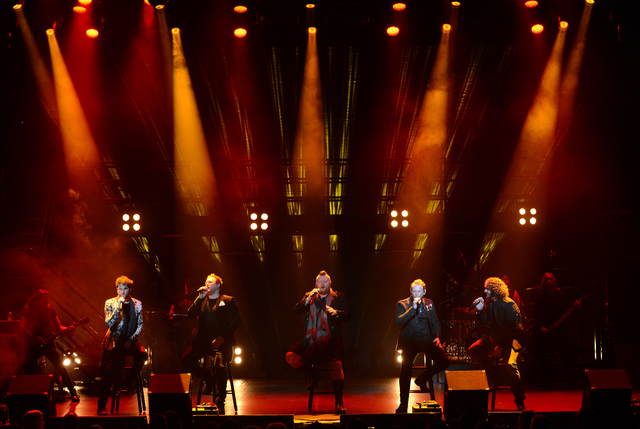 Headliners Tenors of Rock performs at Harrah's Showroom in Las Vegas. (Denise Truscello/WireImage)