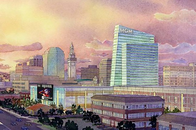 A rendering of MGM Resorts International's planned casino in Springfield, Massachusetts. (MGM Resorts International)