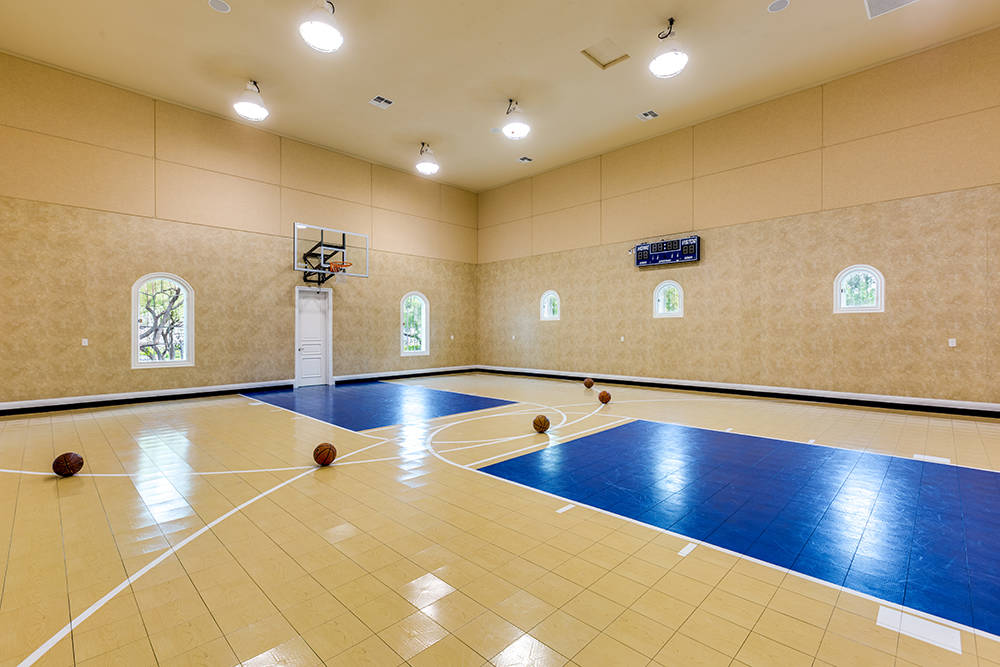 Million dollar homes with lavish sports courts photos for Indoor sport court dimensions
