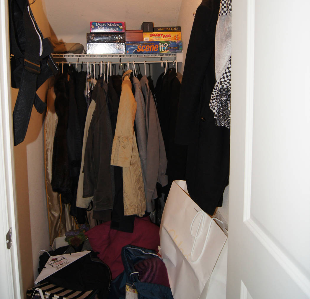 COURTESY LIFE.ORGANIZED Before: It was too easy to just throw things into this small, under-the-stairs closet.
