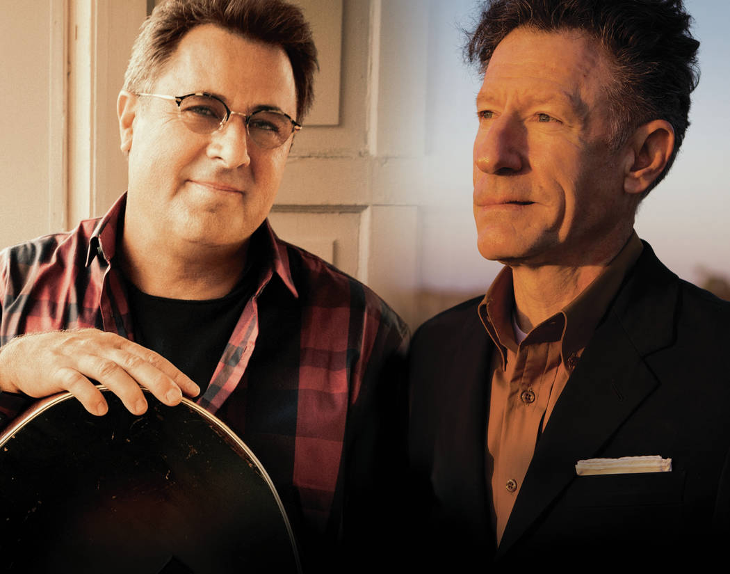 courtesy From left, Vince Gill and Lyle Lovett.