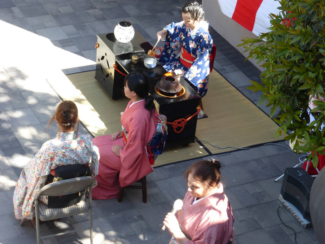 Members of the Kizuna Japanese Society participate in a tea ceremony. (Don Carroll -special to View)