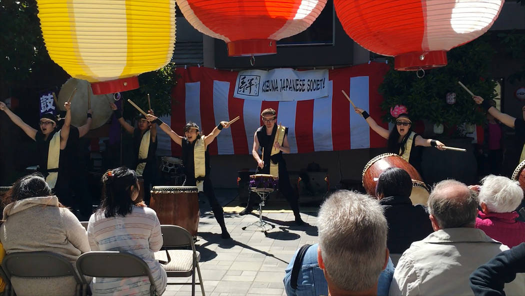 Korabo Taiko team performing during the 2016 Kizuna Spring Festival. (Don Carroll -special to View)