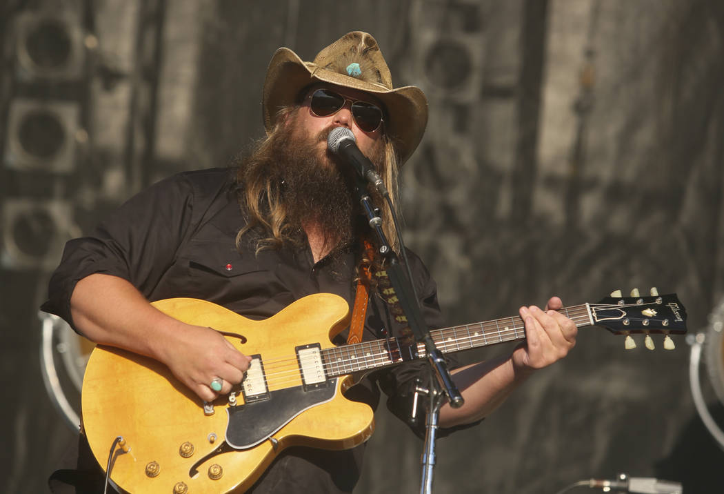 Chris Stapleton performs on the third day of the Austin City Limits Music Festival on Sunday, Oct. 2, 2016, in Austin, Texas. (Jack Plunkett/Invision/AP)