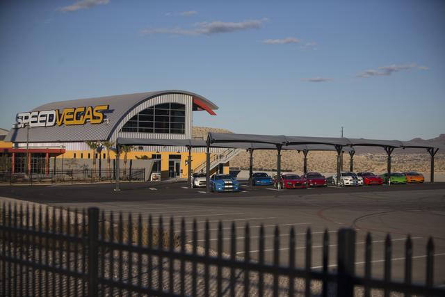 SpeedVegas opened again today since a fiery crash killed two people Feb.12, Thursday, Feb. 23, 2017, in Las Vegas. (Erik Verduzco/Las Vegas Review-Journal) @Erik_Verduzco