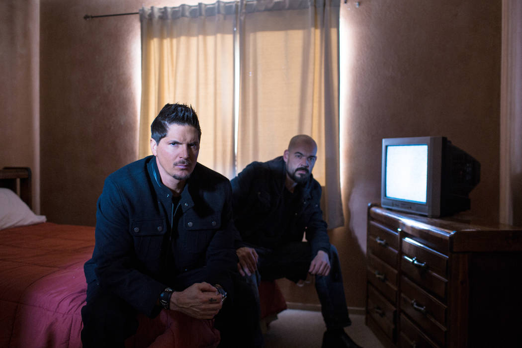 The cast of Ghost Adventures photographed in Las Vegas.